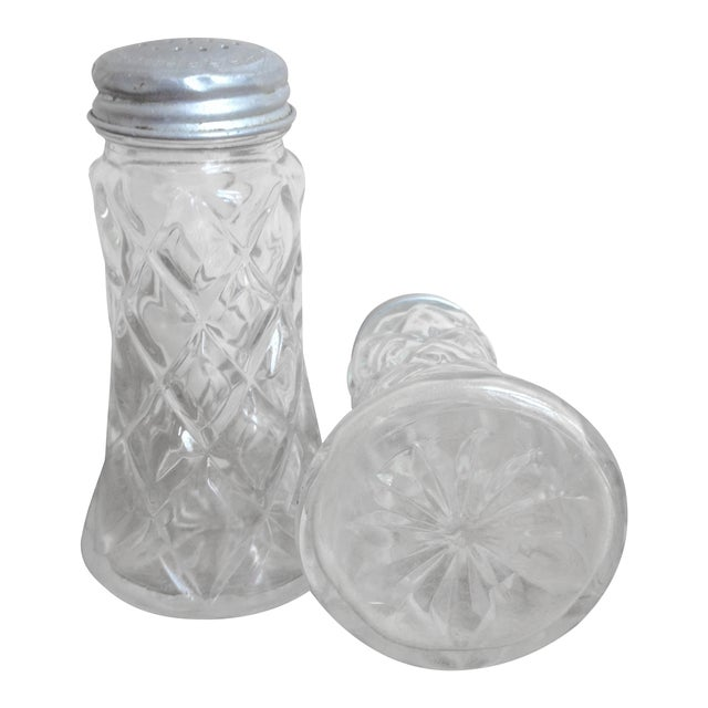 Glass Salt and Pepper Shakers w/ Aluminum Lids - Image 1 of 8