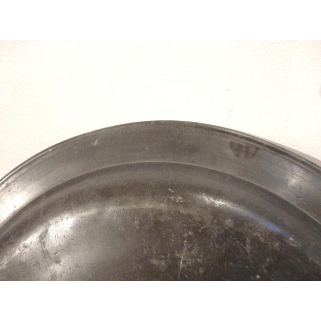 Image of 18thc Large English Pewter Charger