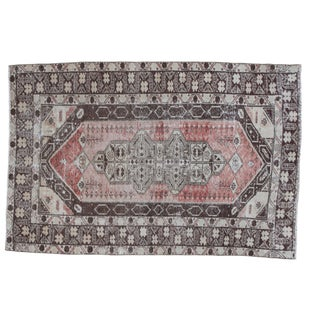Distressed Oushak Rug - 4' X 6'
