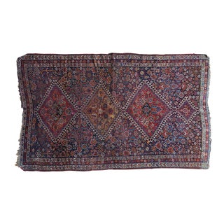 "Antique Persian Qashqai Rug - 3'11"" x 6'5"""