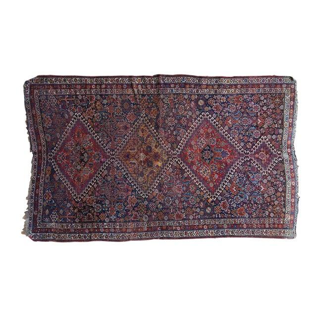 """Antique Persian Qashqai Rug - 3'11"""" x 6'5"""" - Image 1 of 10"""