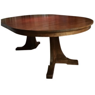 Stickley Solid Oak Pedestal Dining Table