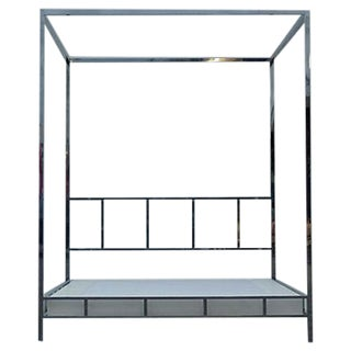 Pace Chrome Canopy Platform Queen Bed