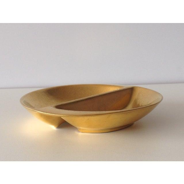 Pickard 24k Gold Divided Floral Motif Dish - Image 11 of 11