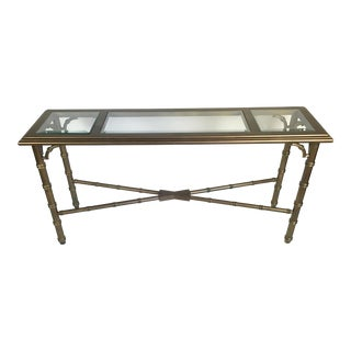 Lane Faux Bamboo Lacquered Sofa Table