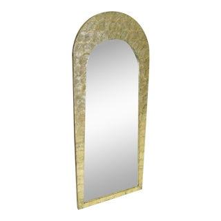 Glimmering 1960 Karl Springer Style Capiz Shell Mirror