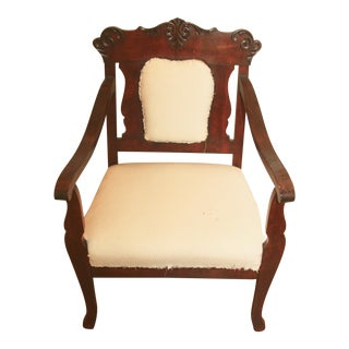 Antique American Classical Cherry Wood Chair