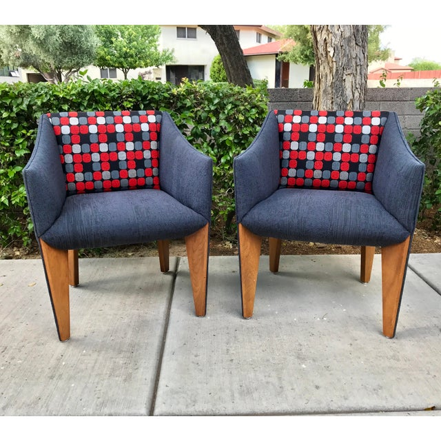Mid-Century Modern Fin Leg Lounge Chairs - A Pair - Image 2 of 11