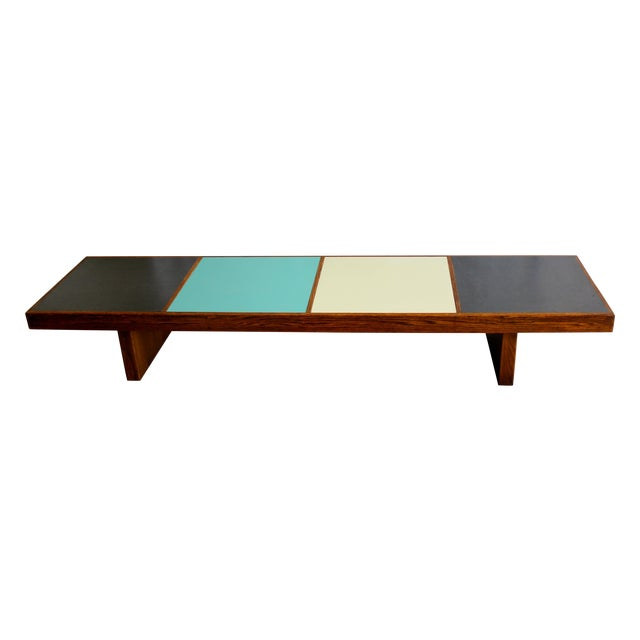 Harvey Probber Colorblock Coffee Table Bench Chairish