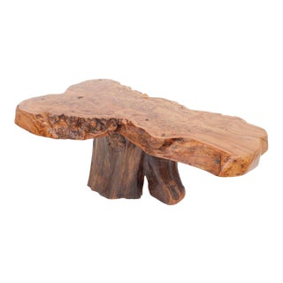 Natural Burl Wood High Gloss Coffee Table