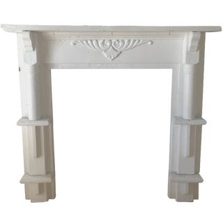 White Wood Acanthus Leaf Mantel