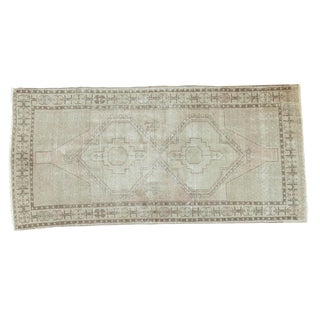 "Vintage Distressed Oushak Rug Runner - 4'2"" x 8'5"""