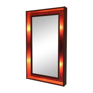 Pedersen & Hansen Danish Teak Lighted Mirror