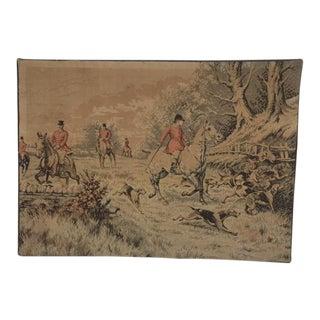 Horse Hunt Scene Textile