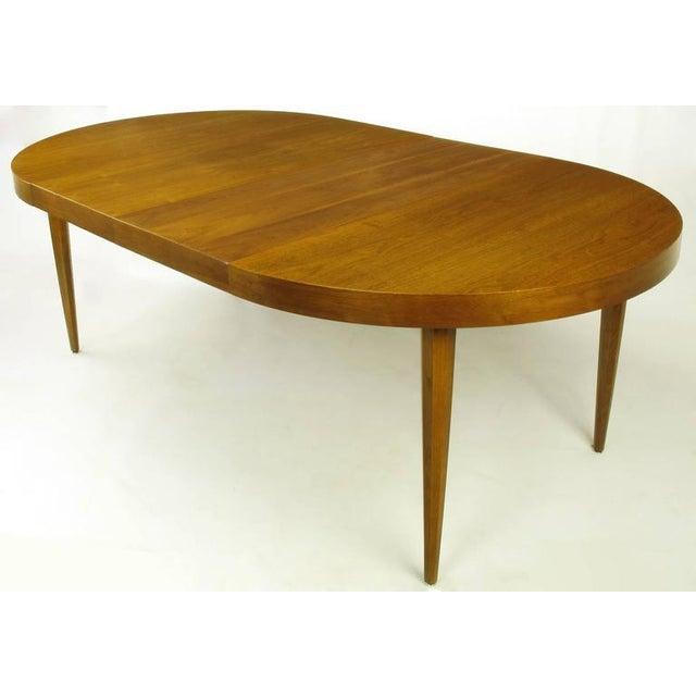 Sleek Modern Walnut Dining Table in the Style of T.H. Robsjohn-Gibbings - Image 5 of 7