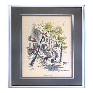 Montmatre French Watercolor Print by John Haymson