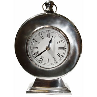 Aluminum Pedestal Clock
