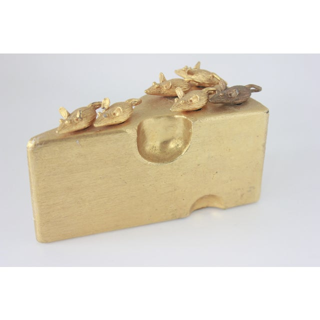 Image of Gold Swiss Cheese & Mice Serving Cheese Picks