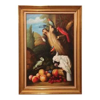 """Ethan Allen """"Parrots"""" Painting"""