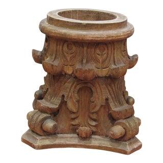 Vintage Wooden Classic Greek Corinthian Column Capital