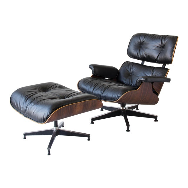 Vintage Eames Lounge Chair With Ottoman - Image 1 of 9