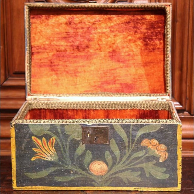 18th Century French Hand Painted Floral Wedding Box - Image 7 of 9