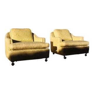 Mid Century Dunbar Style Barrel Chairs