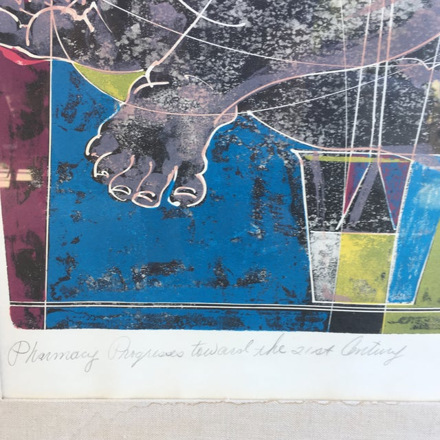 Mid-Century Signed Hans Erni Lithograph - Image 3 of 11