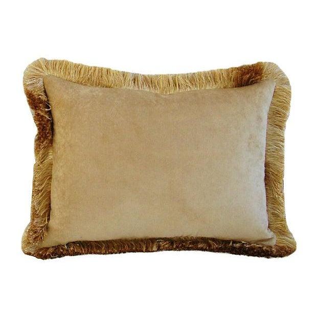 Italian Scalamandré Melograno Lampas Pillow - Image 6 of 7