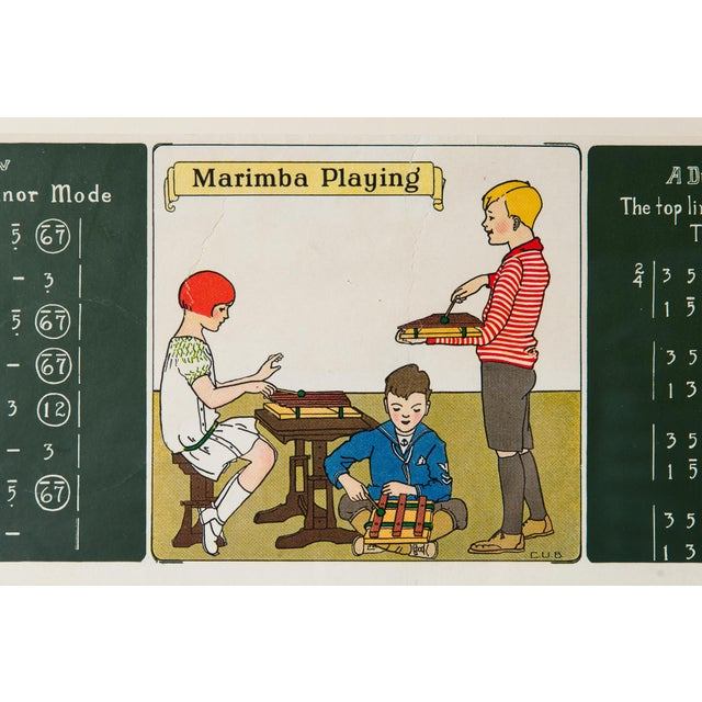 Antique Framed 1920's Music Lesson - Image 3 of 6