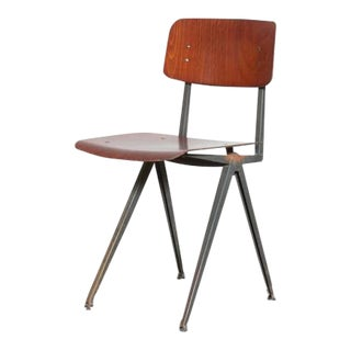 Friso Kramer Style School Chairs with Prouve Legs - Set of 8