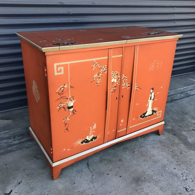 Vintage Chinoiserie Bar Cabinet - Image 3 of 11