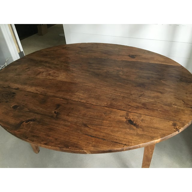 Antique French Drop Leaf Dining Table - Image 4 of 9