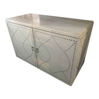 White Dry Bar Cabinet