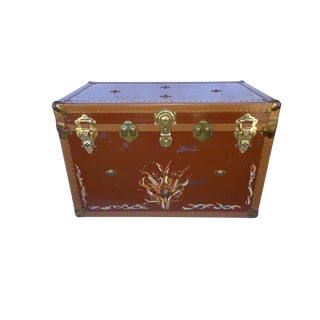 Transitional 1930's Vintage Moving Trunk
