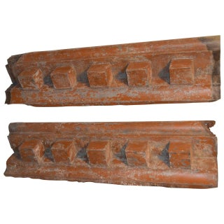 Ceiling Tin Molding Cornices - Pair