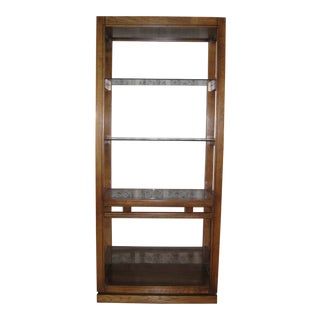 Traditional Style Wood & Glass Shelving