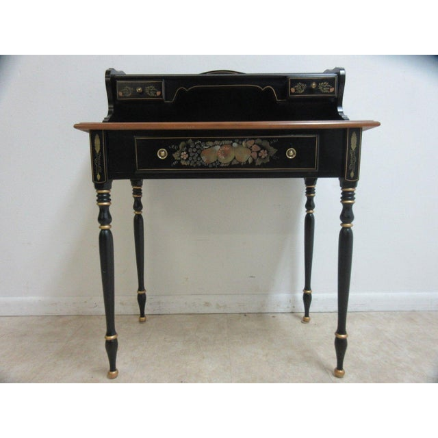 Ethan Allen Hitchcock Paint Decorated Writing Desk - Image 2 of 10