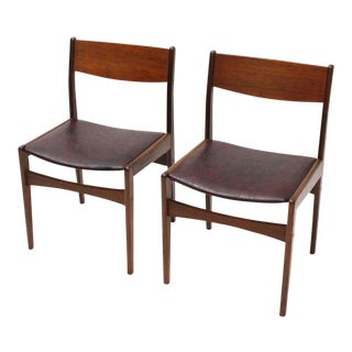Danish Teak Frem Rojle Chairs- A Pair