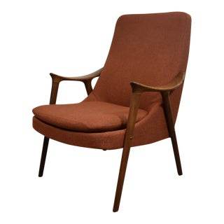 Ingmar Relling Orange Lounge Chair