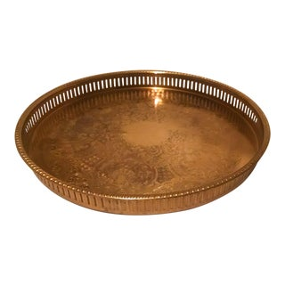 Vintage Brass Cocktail Tray