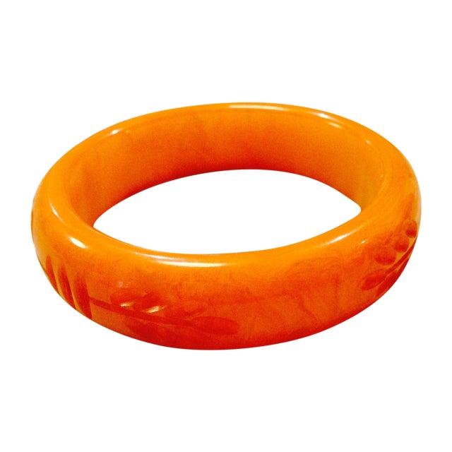 Image of Carved Bakelite Bangle Bracelet