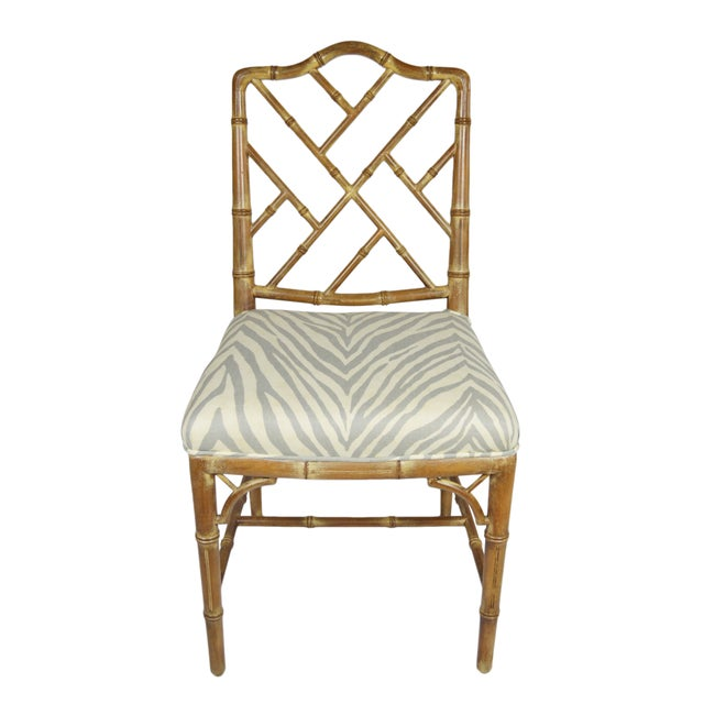 Faux-Bamboo Dining Chairs - Set of 6 - Image 5 of 7