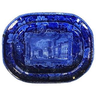 19th C. English Blue & White Platter