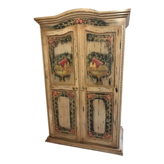 French Country Hand Painted Armoire