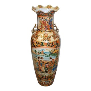 Oriental Double Theme Geisha Women Floor Vase