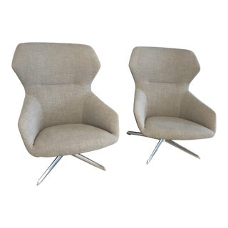 Davis Ginkgo Aluminum Base Lounge Chairs - A Pair