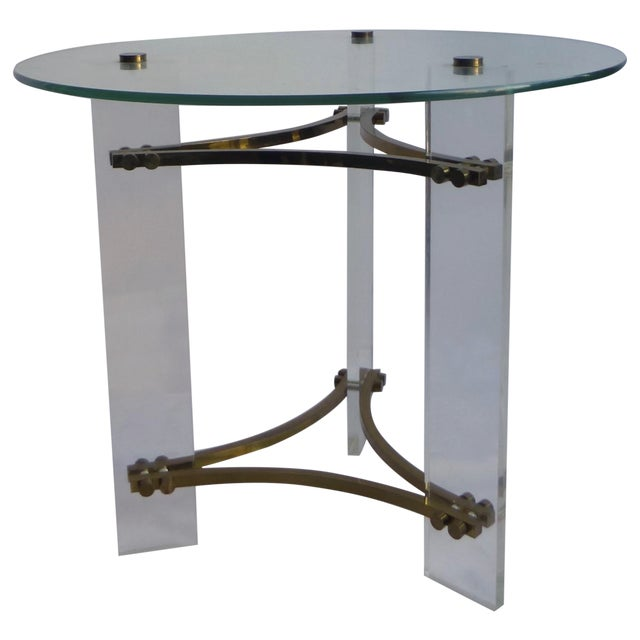 Charles Hollis Jones Lucite Table - Image 1 of 11