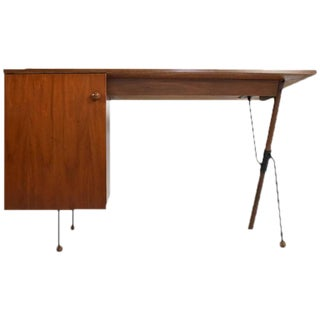 Greta Grossman Walnut Desk by Glenn of California