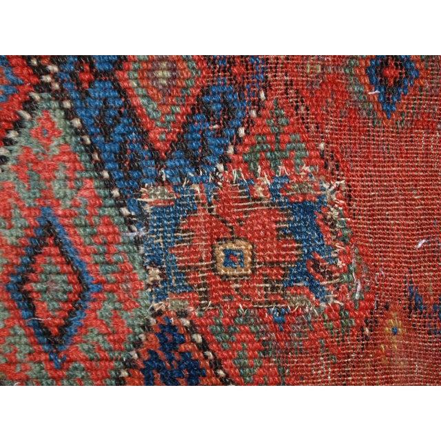 1880s Handmade Antique Persian Kurdish Rug - 2′ × 3′3″ - Image 10 of 10